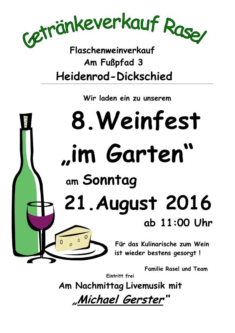 Plakat 8 Weinfest A4 2016